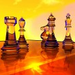 Chess battle — Stock Photo