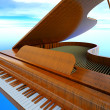 Stock Photo: Grand piano
