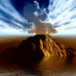Stock Photo: Volcanic crater
