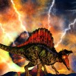 Dinosaur doomsday — Stock Photo