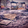 Muddy construction site — Stock Photo