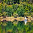 Yacht on o forested hill, pilichowice in Poland — Stock Photo