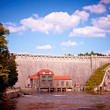 One hundred years old dam in Pilichowice, Poland — Stock Photo #9086205