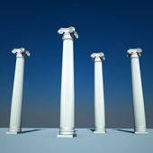 Classical style columns in ionic order — Stock Photo