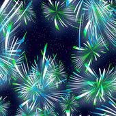 黒い空背景に美しい花火 — ストック写真
