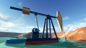 Oil pump in Alasca — Stock Photo
