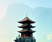 Zen buddhist temple in the mountains — Stock fotografie