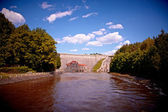 Typical Polish landscape - Dam in Pilichowice — Stock Photo