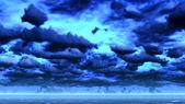 Scese la notte sull'oceano — Foto Stock