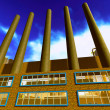 Stock Photo: Factory with smoke stacks