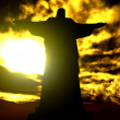 Famous statue of the Christ the Reedemer, in Rio de Janeiro, Bra - Foto de Stock  