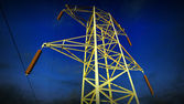 High voltage power lines — Stock Photo