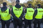 Polish police in action — Stock Photo