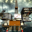 Oil rig — Stock Photo