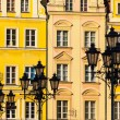 Market square tenements in Wroclaw, Poland - Stock Photo