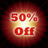50% off — Stock Photo
