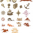 Nautical signs — Stock Vector