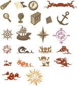 Nautical signs — Stock Vector