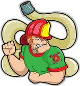 Fireman — Stock Vector