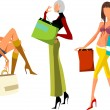 Shopping girls — Stock Vector #9011239