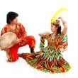 Traditional musician and dancer — Foto Stock