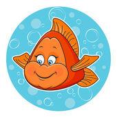 Golden fish — Stock Vector