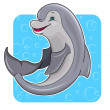 Cartoon dolphin — Stock Vector