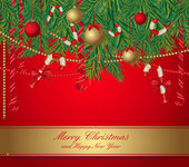 Christmas greeting card — Vettoriale Stock