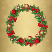 Christmas wreath — Stockvektor