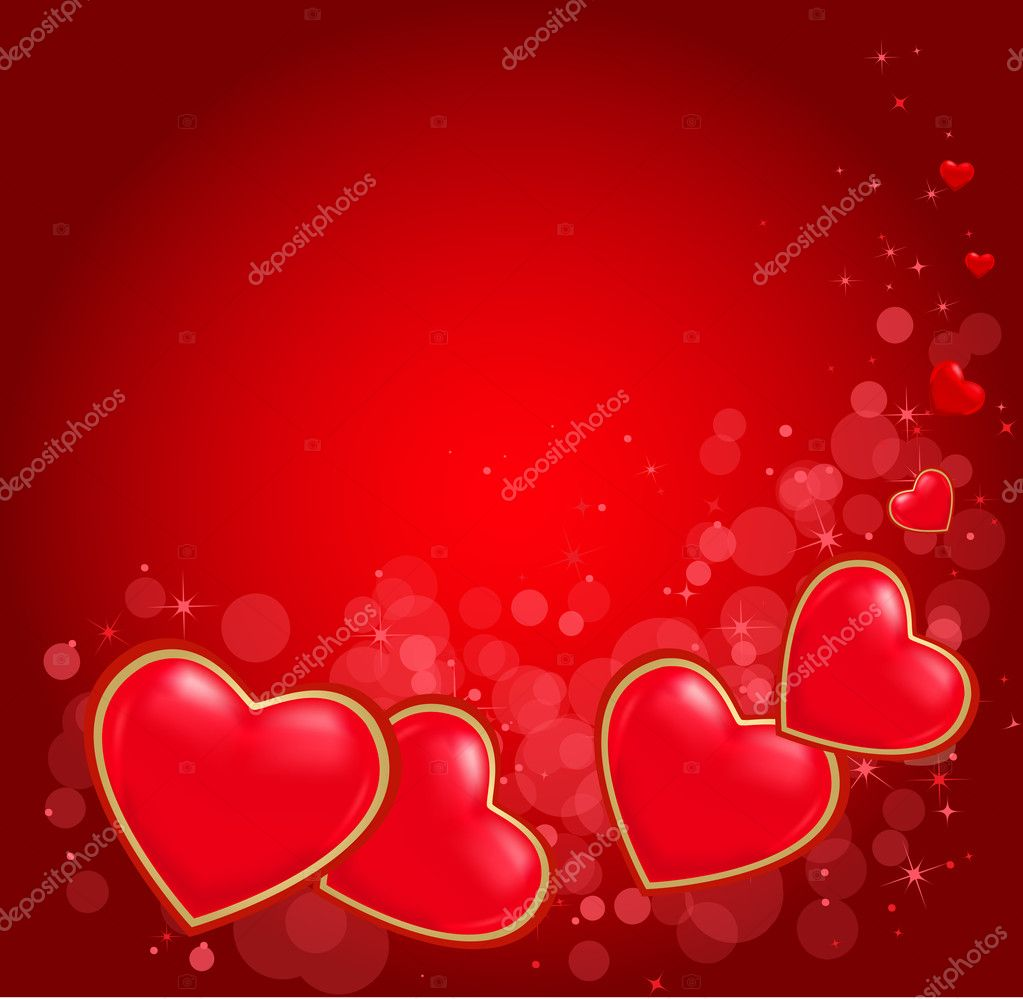 Illustration of valentine heart on abstract background. Vector eps 10. — Stock Vector #8612534