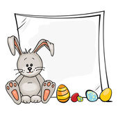 Easter rabbit — Stock Vector