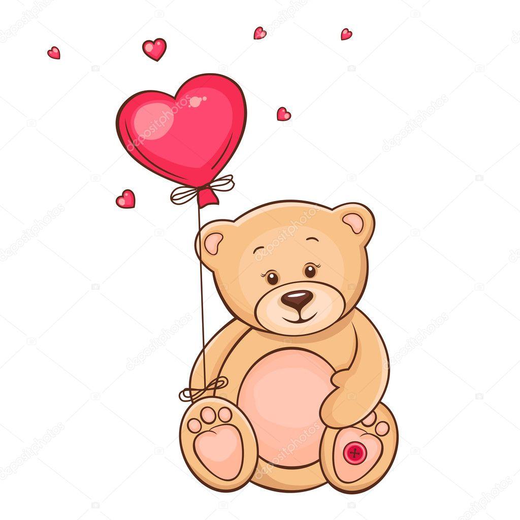 Как нарисовать медведя с подарком
