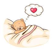 Teddy Bear sleeps — Stock Vector