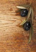 Premium black olives — Stock Photo