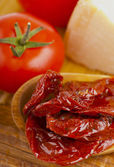 Dried tomatoes in olive oil — Stock Photo