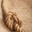Frame make from rope laying on jute - Stock Photo