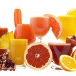 Glasses of fresh juice - Stock Photo