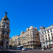 City scene in central Madrid - Stock Photo