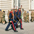 Soldiers at Palacio Real in Madrid — Stock Photo #9449191