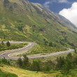 Curves of a road in the mountain in Pyrenees — Stock Photo #10656050