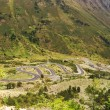 Curves of road in mountain in Pyrenees — Stock Photo #10656077