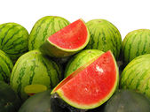 Water melons at the market — Stock Photo