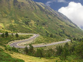 Curves of a road in the mountain in Pyrenees — Stock Photo