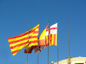 Spanish flags — Stock Photo