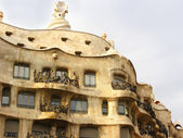 "Modernist house in Barcelona city (Spain) , ""La Pedrera"" — Stockfoto"