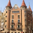 Modernist house like a castle in Barcelona city — Stock Photo