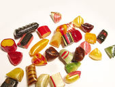 A variety of colorful and artisan isolated candies — Stock Photo