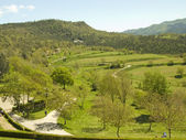 Panoramisch uitzicht van de berg — Stockfoto