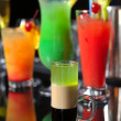 Various cocktails at the bar — Stock Photo #10479476
