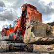 Foto Stock: Big dredge digs